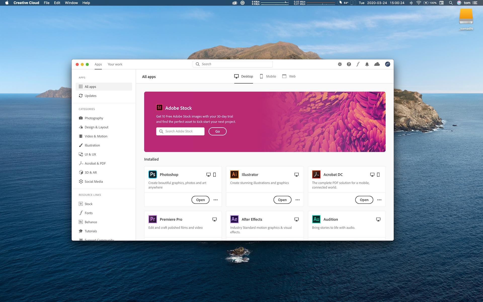 Adobe Creative Cloud Installation