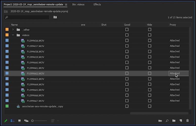 Premiere Pro Proxy Workflow