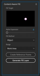 After Effects Content Aware Fill
