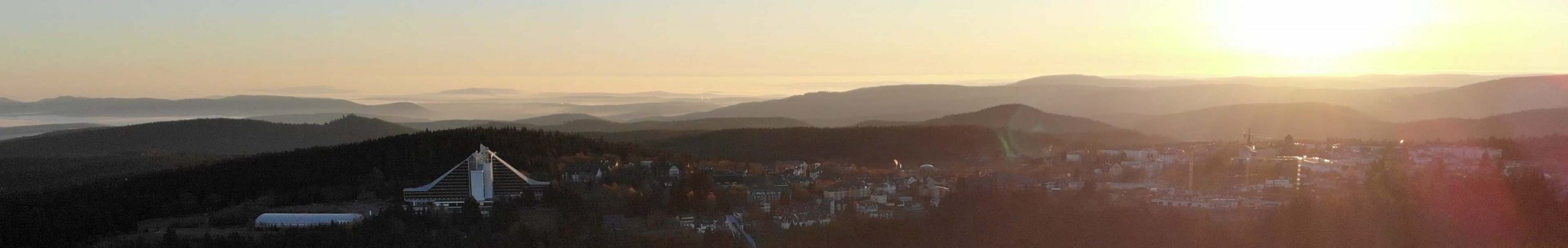 Oberhof Drohne Sonnenaufgang